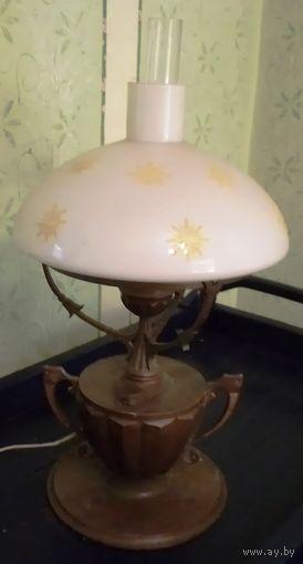 Настольная лампа, СССР, с регулятором света, металл