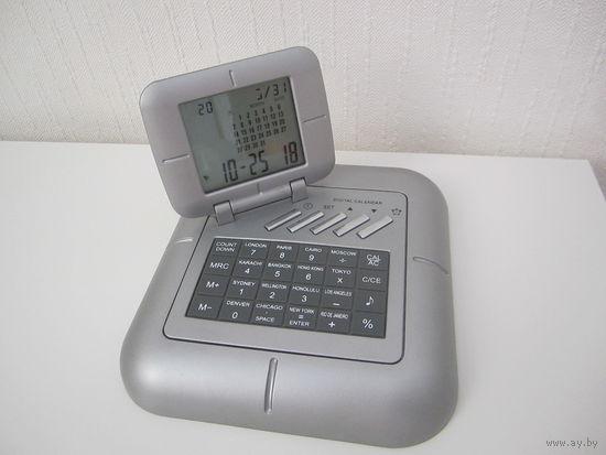 Календарь-часы-калькулятор-будильник