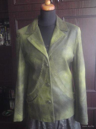 Классический кожаный жакет/пиджак/куртка 44-46, Турция