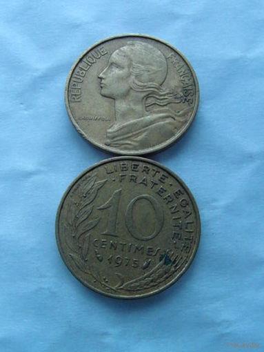 Франция 10 сантимов 1975г.  распродажа