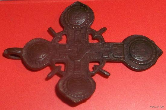 Крест Старинный, Редчайший большой 5x3.6 см. ЦЕНА СНИЖЕНА Сост. Хорошее (при подчистке - отличное)!