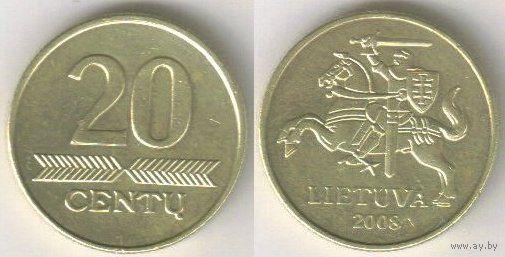 Литва. 20 центов (2008)
