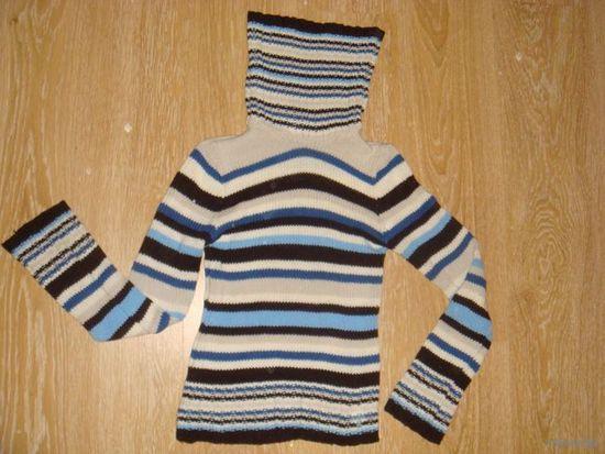 РАСПРОДАЖА! Красивый свитер с высоким горлом!Высокое качество.(44)