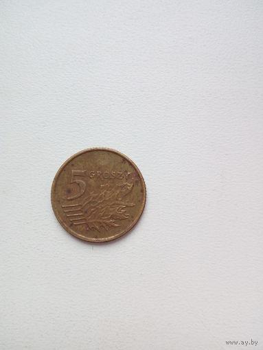 5 грош 1992г. Польша