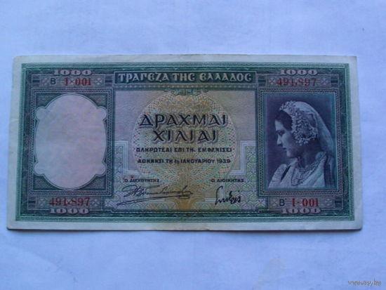 Греция 1000 драхма 1939г.    491,897  распродажа