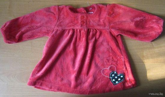 Платье велюровое Carters х/б, 6мес.