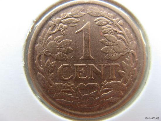 Нидерланды 1 цент 1929 г.