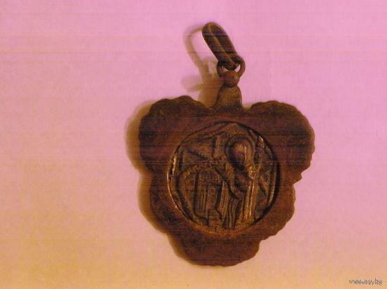 """Образок-ладанка иконка медальон """"Покров Пресвятой Богородицы"""". Бронза"""