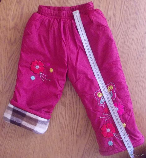 Штаны утепленные для девочки