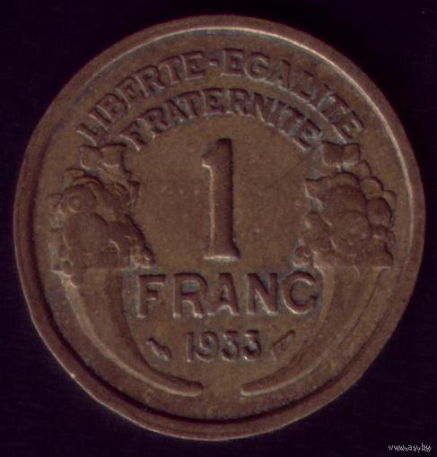 1 Франк 1933 год Франция