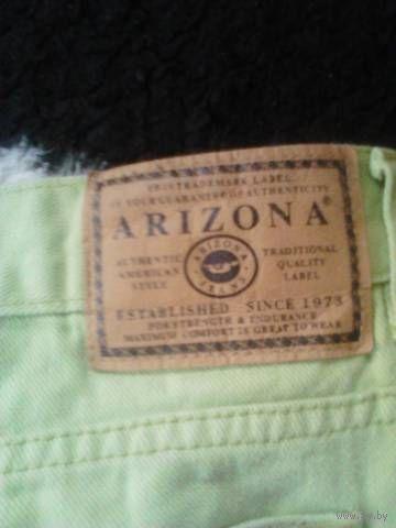 Модные джинсы салатовые классные р.48-50