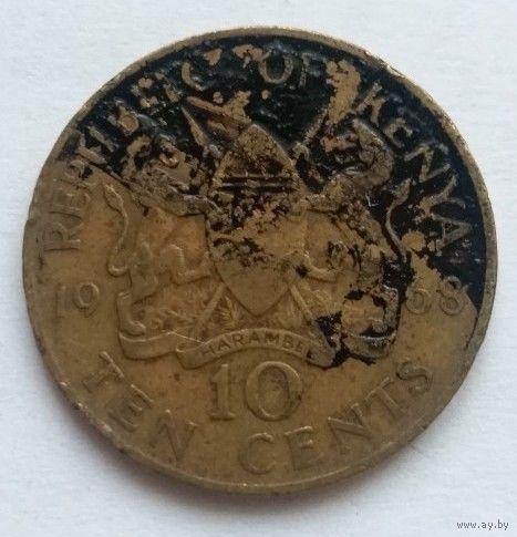 Кения, 10 центов 1968 год