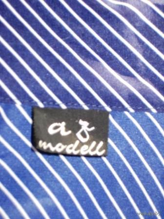 Офисная блуза в полоску с бантом-блестит-в офис  р.46-48