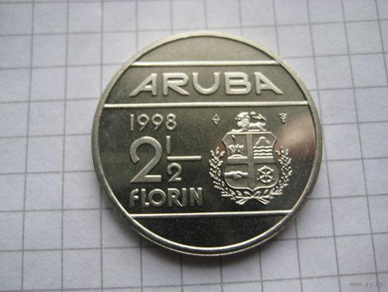АРУБА 2 1/2 ФЛОРИНА  1998 ГОД  UNC