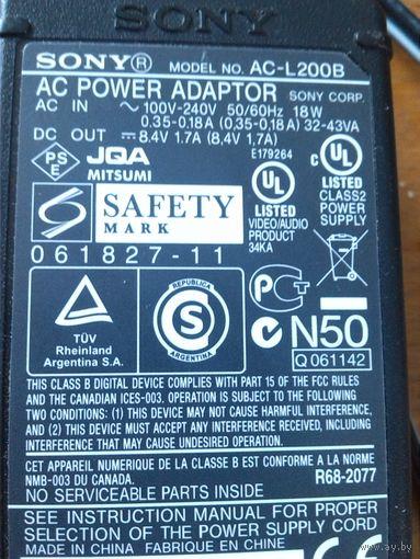 Зарядное адаптер SONY model.NO. AC-L200B
