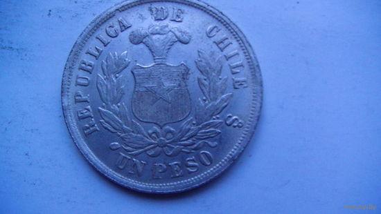 Чили 1 пессо 1881г. (копия) распродажа