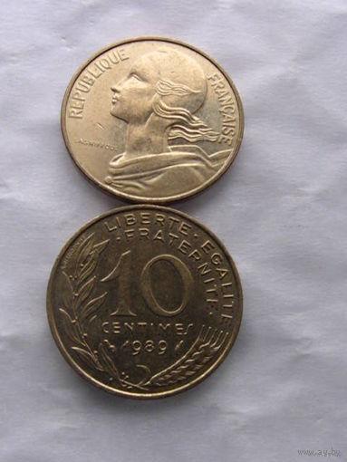 Франция 10 сантимов 1989г. распродажа