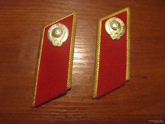 Петлицы парадные с эмблемами на форму сотрудника милиции СССР.