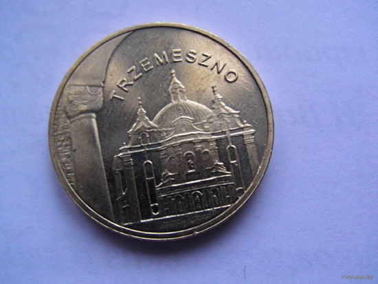 Польша 2 злотых 2010г    TRZEMESZNO.  распродажа