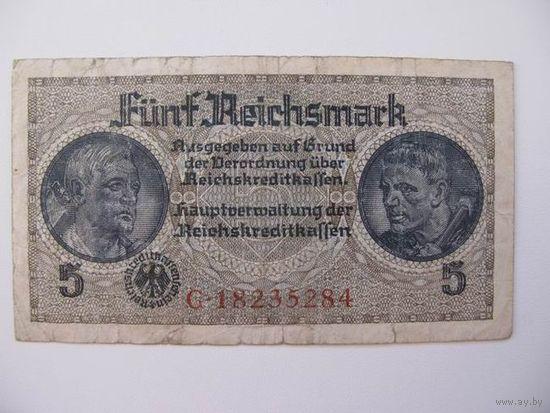 Германия  5 м  1939  (8 цифр в номере  )