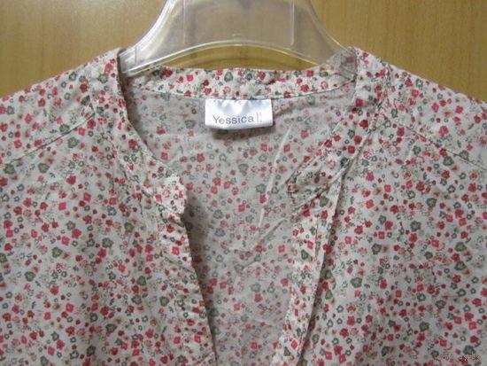 Блузка летняя Yessica от C&A в мелкий цветочный принт, р.48-50