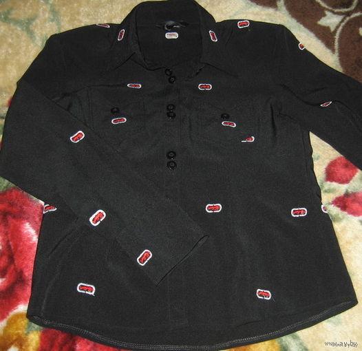 Классическая  приталенная блузка-рубашка р-р 42-44. Старт с 1 у.е.