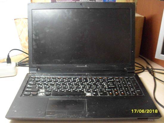 Ноутбук Lenovo B570e залитый на запчасти без минимальной цены