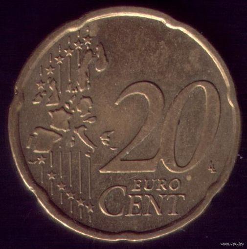 20 евроцентов 2002 год Германия J
