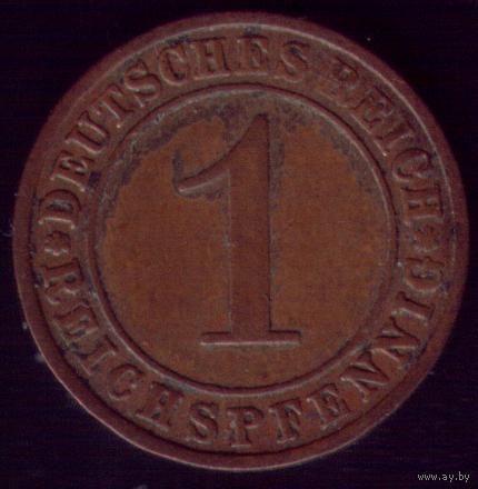 1 рейхспфенниг 1930 год Германия E