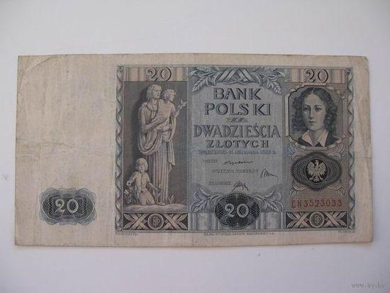 Польша  20 зл   1936