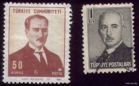 2 марки 1948 и 1968 год Турция