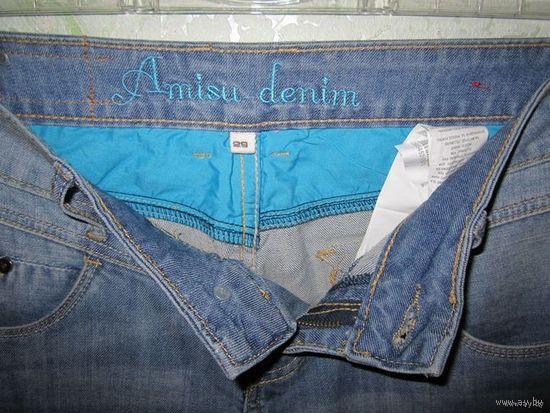 Бермуды джинсовые AMISU, р.29 (46-48) Новые! В треть цены!