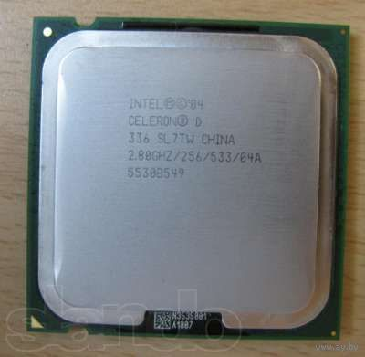 Процессор Intel Celeron D336 2.8 ГГц (Socket 775).
