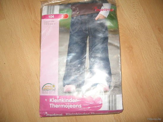 НОВЫЕ джинсы немецкие на рост 104 на байке