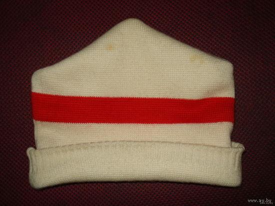 Шапка с национальными цветами Беларуси бел-чырвона-белы  (зимняя очень тёплая 55-57 размер) согреет любого, в любой мороз!!!