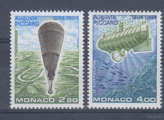 [888] Монако 1984. Авиация.Техника.Стратостат,батискаф.