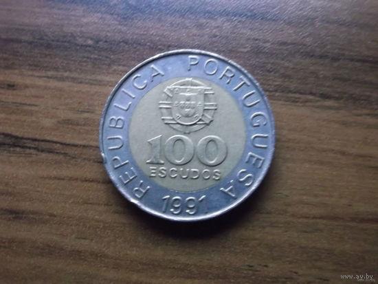 Португалия 100 escudos 1991
