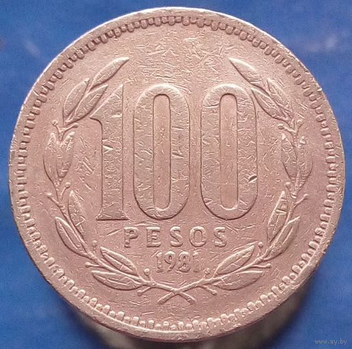 100 песо 1981 Чили - первый год чекана этого типа