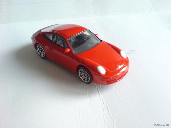 Porsche  911  carrera  S  1\58   красный.  металл  распродажа коллекции