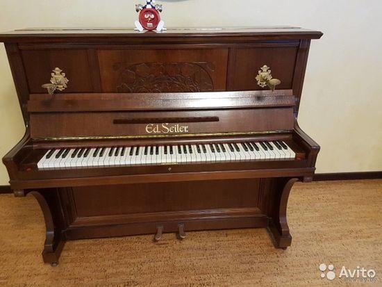 Антикварное пианино 1900 г. Ed Seiler