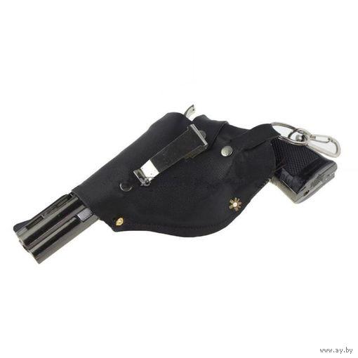Ветрозащитная бутан зажигалка - пистолет (револьвер).