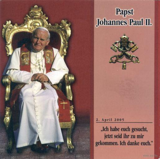 МАЛЬТИЙСКИЙ ОРДЕН 1лира 2005 г. Набор из 5 монет. Житие папы Иоанна - Павла II.