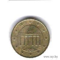 Германия 10 евроцентов F 2002г.  распродажа
