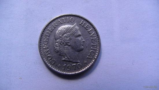 Швейцария 10 раппен 1970г  распродажа