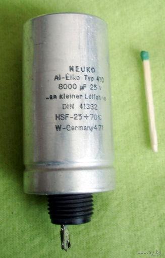 Конденсатор 8000мкФ 25В