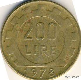 Италия 200 лир 1982 года   распродажа