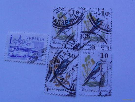 Украина марки Птички + бонус распродажа