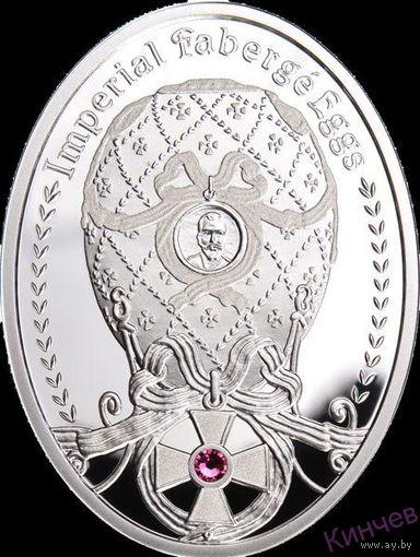 1 доллар 2012 г. Ниуэ-Яйцо Фаберже- Орден Св.Георгия.