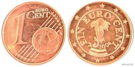 Австрия 1 евроцента 2004г.   распродажа
